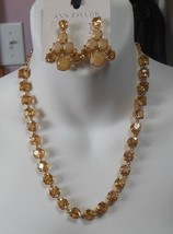 Ann Taylor Rhinestone Necklace and Earrings - $64.35