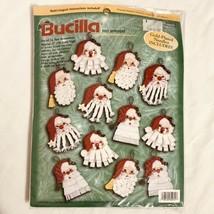 BUCILLA 84072 Santa Beards Felt Applique Christmas Ornaments Kit New Sealed - $23.72