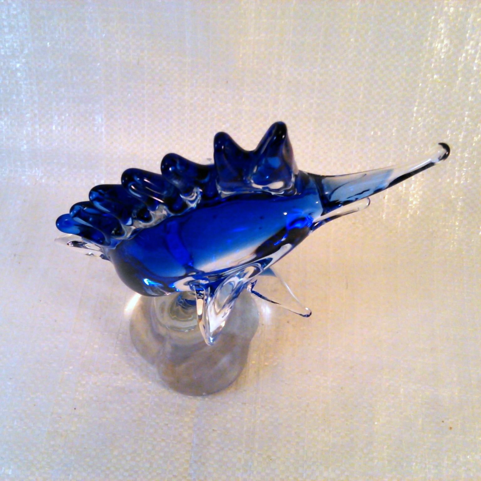 Fifth Avenue Crystal Hand Blown Glass - BLUE MARLIN SWORDFISH Figurine