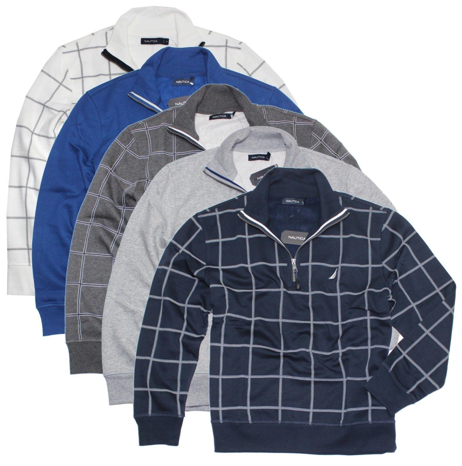 Nautica Men's Half Zip Mock Neck Fleece Heritage Pullover, used for sale  USA