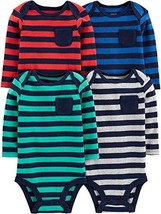 Simple Joys by Carter's Baby 4-Pack Soft Thermal Long Sleeve Bodysuits, ... - $22.47