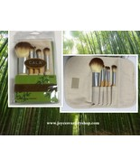 Cala Naturale Bamboo Make Up Brush Set 5 PC Pouch Travel Set - $7.99