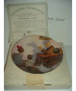 Norman Rockwell Shadow Artist Plate Heritage Collection 1987 w/ Box & COA - $15.99