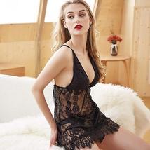 Women Lingerie Halter Lace Babydoll Slip Sleepwear