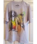 T-Shirt Bob Marley Reggae Gray 100% Cotton Large Made In Mexico Graphic Tee - $14.99