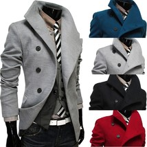 new arrival winter autumn coat high quality new Men's Turn-down Collar L... - $93.64