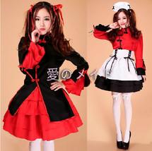 Lolita Chinoiserie Apron Dress Maid Outfit Kimono Uniform Cosplay Costume S-XXXL - $48.50