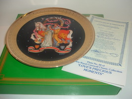 Loves Sweet Offering Precious Moments Plate Royal Cornwall w/ COA and Box 1981 - $18.99