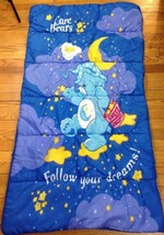 2003 Care Bears Sweet Dream Bedtime Bear Blue Kids Sleeping Bag  - $29.65