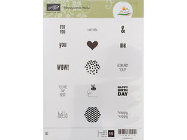 Stampin' Up! Honeycomb Hello Rubber Stamp Set #134078