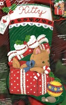 Bucilla Kittys Christmas Eve Kitten Toys Gift Holiday Felt Stocking Kit 84852 - $52.95