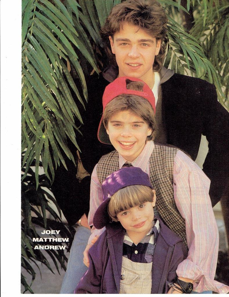 Joey Lawrence Matthew and Andy Lawrence teen magazine pinup clipping Bop