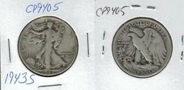 1943 S Walking Liberty Half Dollar Actual Photo of Coin CP9405 - $11.95