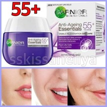 GARNIER Anti Ageing Essentials DAY Face Care Cream 55+ Wrinkles Corrector 50ml - $12.86