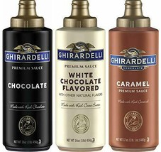 Ghirardelli Squeeze Bottles - Caramel, Chocolate & White - Set of 3 - $25.37