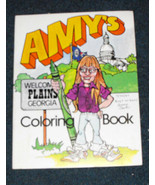 amy carter amy's coloring book autographed 1982 - $22.99