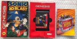 ☆ Sonic 3D Blast (Sega Genesis 1996) RARE AUTHENTIC Game Cart & Box Works ☆ - $18.50