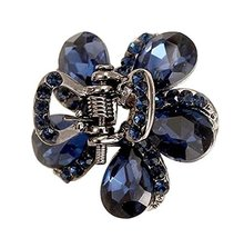 2 Pcs Rhinestones Small Claw Clips Elegant Hair Claw Hair Clips #08 [A] - $19.26