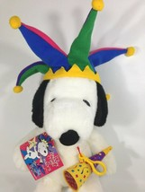 Macy's Snoopy Plush Doll 2000 Millennium Jester New Years Eve Peanuts w/... - $39.95