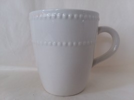 Royal Norfolk White Beaded Coffee Team Mug Cup - $14.25