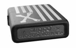 Dissizit! Los Angeles Black Cross Bones American Flag Zippo Lighter 2013 NIB image 2