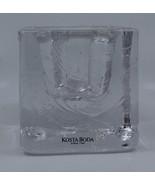 Kosta Boda Cube Square Votivo Tea Light Glass Candle Holder Swedish Scan... - $41.25