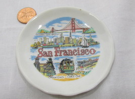 San Fransisco Plate Scenes Tiny 3 Inch Chinatown Golden Gate Cable Car U... - $14.98