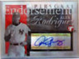 2004 Topps Prist Persönliche Endors # Ar Alex Rodriguez Au A - $139.69