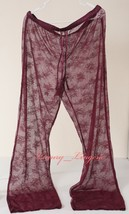 Victoria's Secret VS Floral Lace Sheer Pant Relaxed Fit Unlined M Medium... - $37.99