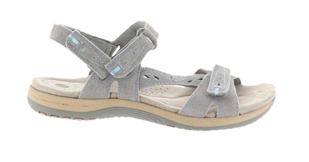 Earth Origins Suede Sport Sandals Sophie Frost Grey 7 5w