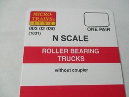 Micro-Trains Stock # 00302030 (1031)  Roller Bearing Trucks Without Coupler (N) image 3