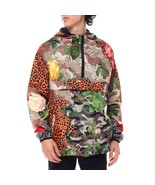 REASON 1/2 Zip Anorak Windbreaker Hood Floral Camo Animal Print Men's si... - $69.29