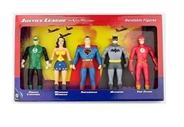 DC Comics Justice League New Frontier Bendable Action Figures Superhero Set - $42.13