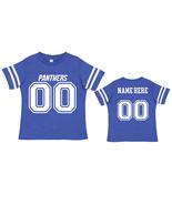 Personalized Carolina  Panthers Uniform Jersey Toddler Tshirt  - $27.95