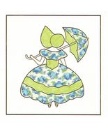 Spinning Spools Applique Parasol Girl Quilt Pattern Flexible Plastic Tem... - $9.99