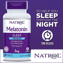 NEW Natrol Melatonin Time Release 5 mg., 250 Tablets **FREE SHIPPING** - $21.99