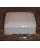 VINTAGE MCKEE RECTANGULAR WHITE MILK GLASS TRINKET BOX - $22.00