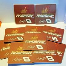"Lot of 12 Budweiser Racing Dale Jr. 8 Nascar Beer Coasters 4 1/4"" x 4 1/4"" - $9.46"