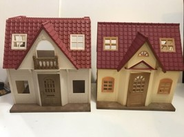 Calico critters sylvanian family Cozy Cottage Starter House lot of 2 RED Roof - $44.50