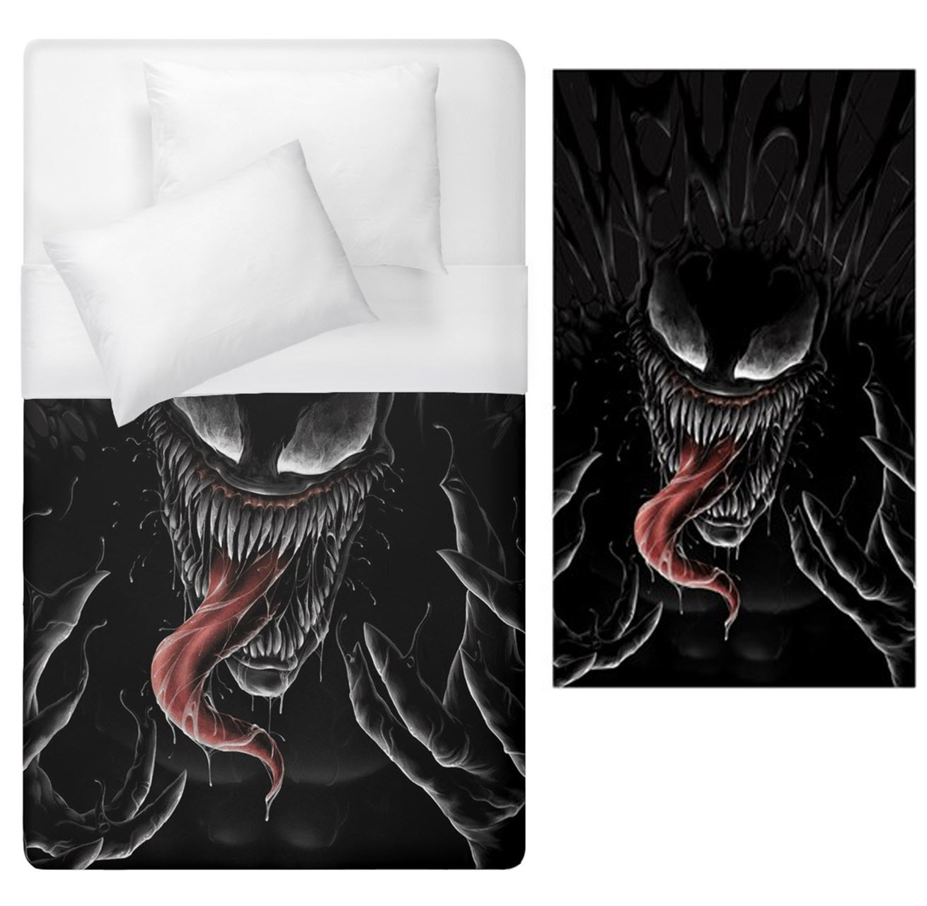 Primary image for Venom cosplay halloween horror Duvet Cover Single Bed Size