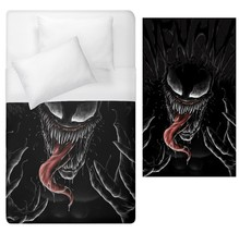 Venom cosplay halloween horror Duvet Cover Single Bed Size  - $70.00