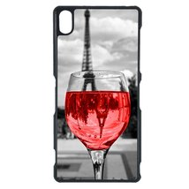 Coloful wine with Paris Sony C4 case Customized premium plastic phone ca... - $11.87