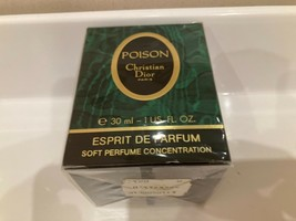 RARE 1988 Christian Dior Poison Esprit de Parfum 1oz/ 30 ml sealed - $197.01