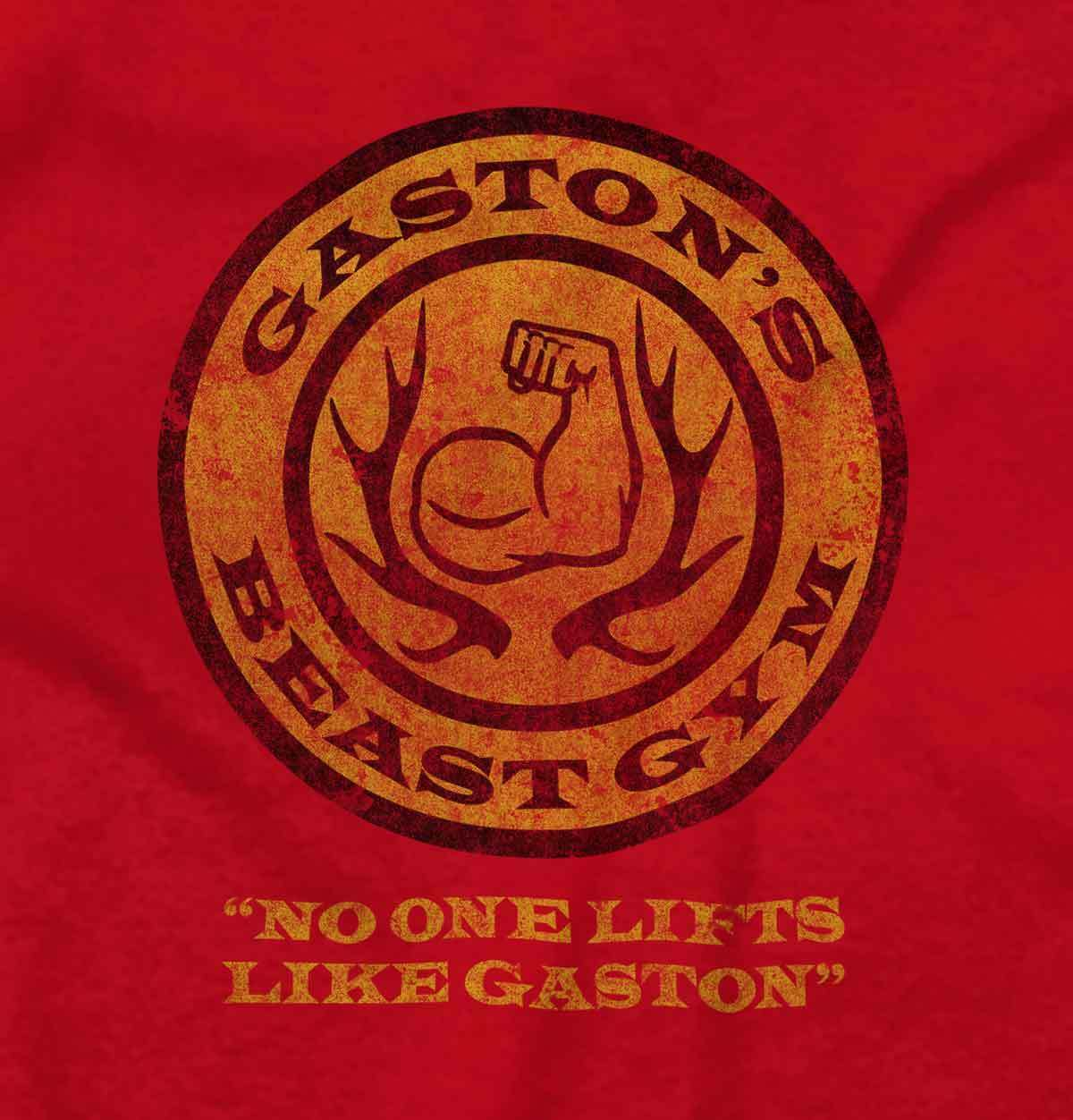Beauty and The Beast Disney Inspired Shirt Gaston Gym Workout Junior V-Neck Tee