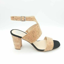 Vince Camuto Womens Warma Sandals Multicolor Cork Block Heels Suede 9.5 M New - $83.15