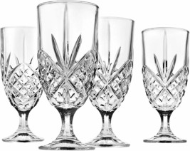 4 (Four) GODINGER SHANNON DUBLIN Cut Lead Free Crystal Ice Tea Glasses - $27.54