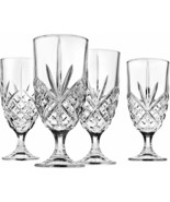 4 (Four) GODINGER SHANNON DUBLIN Cut Lead Free Crystal Ice Tea Glasses - $27.54