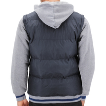 Men's Hybrid Puffer Lightweight Utility Insulated Hooded Quilted Zipper Jacket image 9