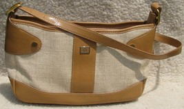 Etienne Aigner Lined PURSE Handbag Tan Satchel Classy Bag Pocketbook Sat... - $21.77