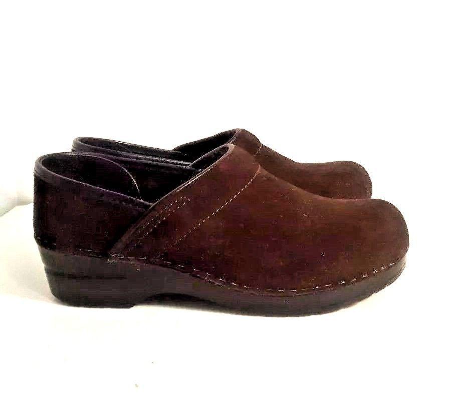 c80c95fdeee7e Sanita Size US 8-8.5 Chocolate Brown Suede Professional Nurse Clogs Shoe  EU39 - $29.69